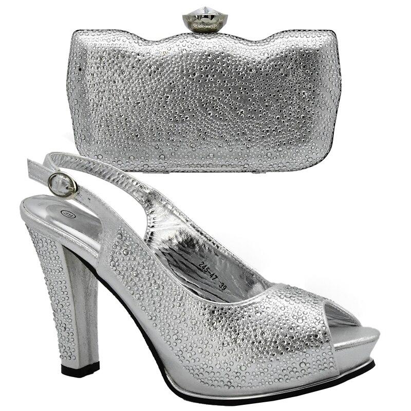 Zapatos plata Italianos En verde Rhinestone Bolso Mujeres Zapato Y Vino Tinto vino Bolsas Color Bolsa A El De Juego oro Negro Partido Con Para Las Set gtqBEx