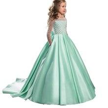 0cb075a9c3f Fantaisie petites filles robe longue enfants robe de bal première communion  robes vestido de fiesta nina