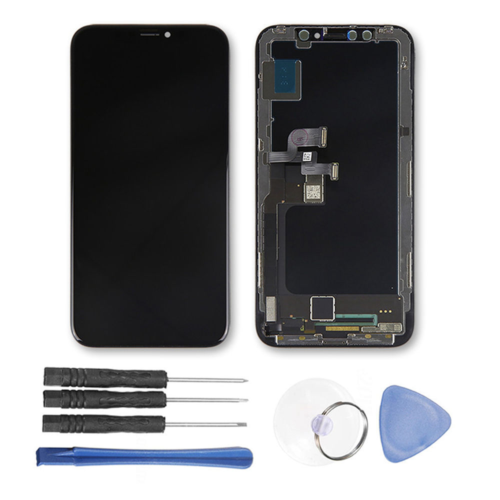 ЖК дисплей Дисплей Сенсорный экран планшета в сборе с инструментами Замена для iPhone X 10 Мобильный телефон ЖК дисплей frame Сенсорный экран Запч
