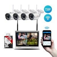 EINNoV Security CCTV Camera System Wireless Surveillance Outdoor IP Cameras WIFI 12 LCD Screen Video Baby
