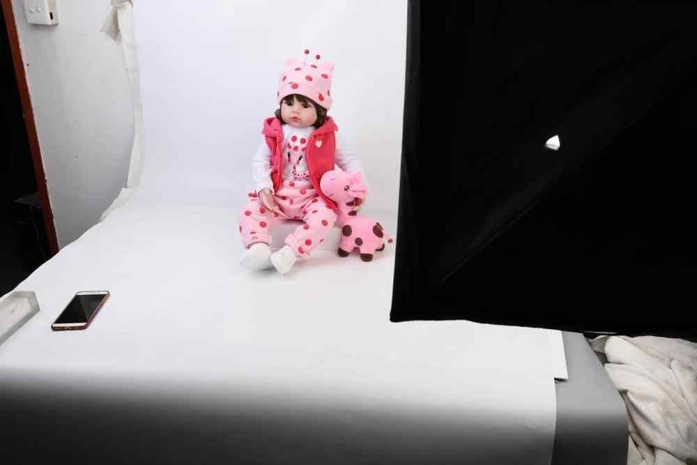 Bebe rebon 19 polegada 48cm lifelike reborn boneca do bebê recém-nascido atacado brinquedos para crianças presente de natal e presente de aniversário