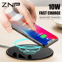 ZNP 10W Qi Wireless Charger For IPhone X 8 8 Plus Fast Wireless Charging For Samsung