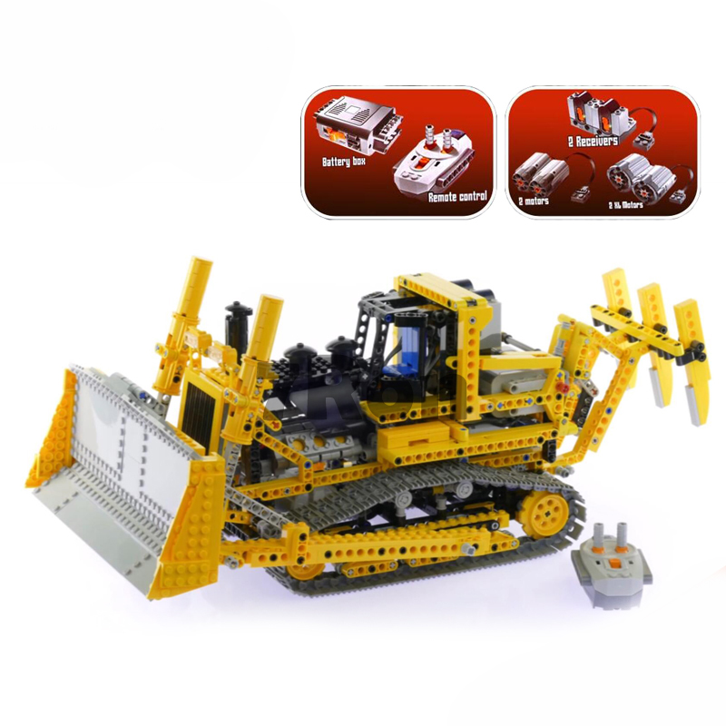 20008 technic series remote control the bulldozer Model Assembling Building block Bricks kits Compatible with lego 8275 hobbies lepin 20008 technic series remote contro lthe bulldozer model assembling building block bricks kits compatible with 42030