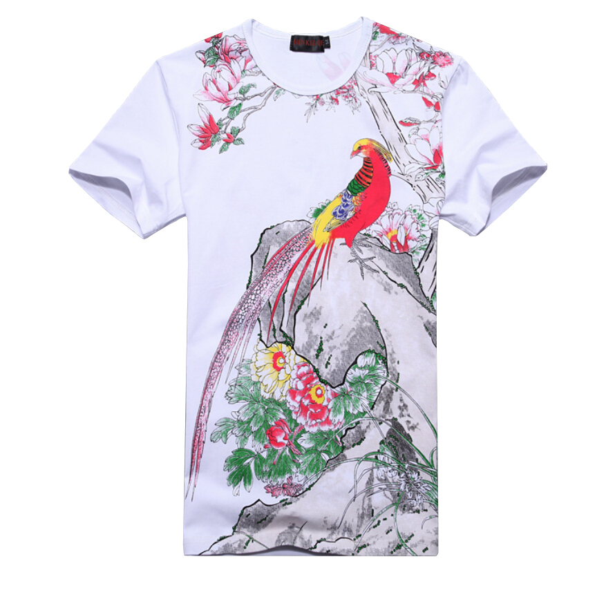 Plus Size 6XL heren T-shirt 2019 Nieuwe Mode Chinese Stijl Print - Herenkleding - Foto 3