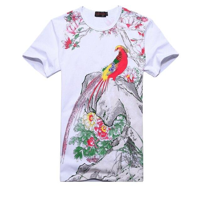 Plus Size 6XL Men's T-Shirt 2019 New Fashion Chinese Style Print T Shirt Men Summer Short-Sleeve Casual Slim Fit 3D Mens T Shirt 4