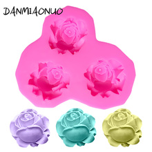 DANMIAONUO Bar Rose Silicone Mold Flower Cake Decorating 3D Muffin Baking Tools For Cakes Chocolate A340405