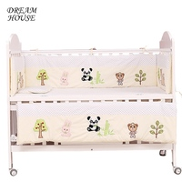 Girl Boy Bedroom Cribs Baby Bed Bumpers Infant Cushions Baby Protect Bumpers Newborn Room Decor Cots 4pcs Bumper+1pc Mattress
