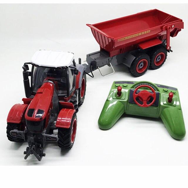 Baru RC Mobil Remote Control Traktor Pertanian Loader Mesin Petani Dilepas Dumper Anak-anak Mobil Mainan Anak Remote Control Mobil Hadiah
