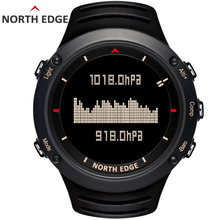 NORTH EDGE Men's sport Digital watch Hours Running Swimming sports watches Altimeter Barometer Compass Thermometer Weather men все цены