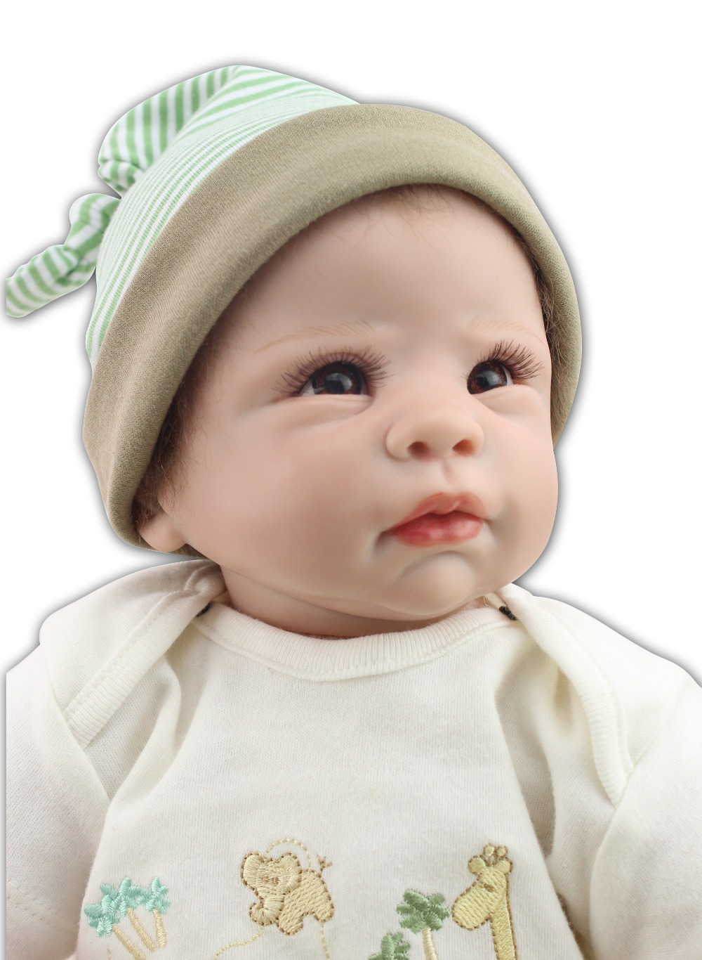 High Quality popular Simulation Babydoll Imported Mohair Doll Silicone Vinyl Toys Soft Cotton Body Children Birthday Present newborn simulation babydoll silicone vinyl doll educational enlightenment baby toys girls present