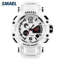 SMAEL Fashion Big Dial Women Sports Watches LED 30M Waterproof Luxury Watch S Shock Digital Quartz