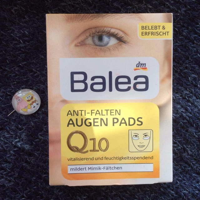 2 UNIDS Alemania Balea Q10 Anti-falten Augen Pad AntiAging Hidrata la máscara de ojo del cuidado del ojo máscara de cuidado de la piel mejorar la elasticidad de la piel