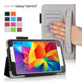 stock stand leather Case for Samsung Galaxy Tab4 8.0 T330 tab4 8.0 T330/T331 case with hand hold 500pcs/lot free shipping