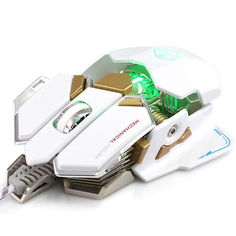 2017 mode souris d'ordinateur portable 10 boutons Pro Gaming souris optique lumière LED USB ergonomique Macros souris Gamer souris pour ordinateur portable