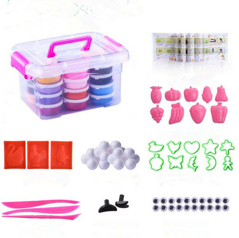 Slime Toys 24 Colors With Accessories Fluffy Slime 3C DIY Plasticine Magnet Gift For Children Clay