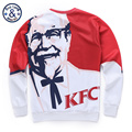 BAOLONG BRAND kfc merciful old hombre 3D Printed Sweatshirt red and white mens hoodies and sweatshirts one punch man mass effect