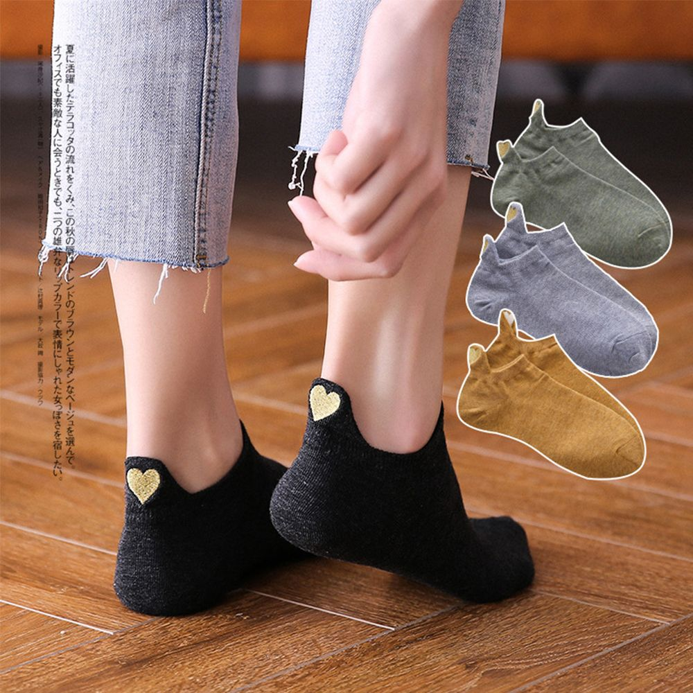 1 Pair Fashion Socks Woman Spring Ankle Socks Girls Cotton Color Novelty Women Fashion Cute Heart Casual Short Socks Lady