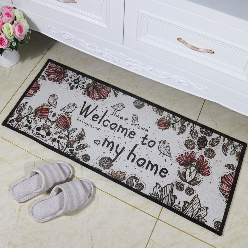 Zeegle Anti-slip Long Door Mat Floor Carpet Kitchen Bathroom Absorbent Carpet Kids Room Pad Floor Mat Living Room Decor