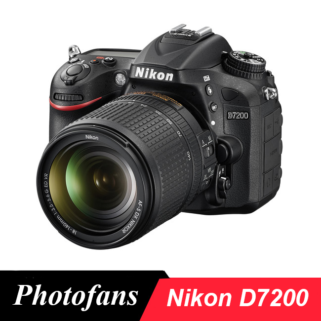 Tüketici Elektroniği'ten DSLR Kameralar'de Nikon D7200 DSLR kamera ile 18 140mm Lens title=