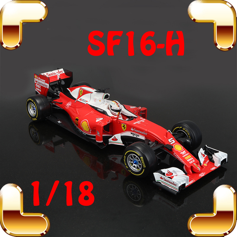 Christmas Gift SF16-H F1 1/18 Model Car Collection Racing Vehicle Model Scale Toys Decoration Steel Alloy Diecast Boys Present alloy diecast model trucks transport 1 50 engineering car vehicle scale truck collection gift toy