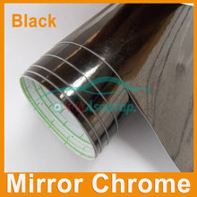 Retails 0.1M*1.52m Mirror Chrome Vinyl Car Wrapping Sticker Films Auto Mirror Vinyl Car Decoration Vinyl with Air Bubble Free