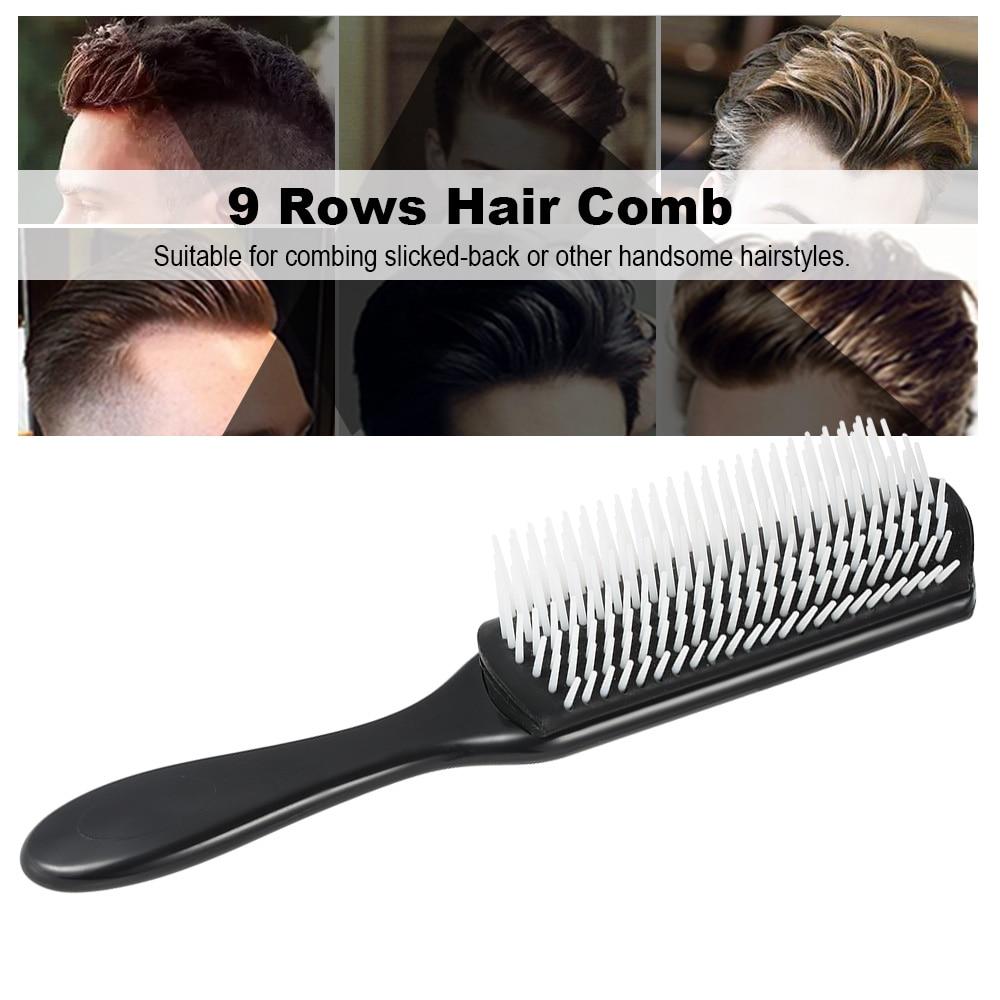 Купить с кэшбэком Professional Anti-static Hair Comb Hairstyle Nylon Pins Scalp Massage Detangling Hair Brush Barber Hairdressing Styling Tools