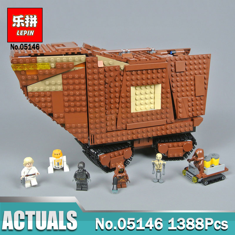 2018 Lepin 05146 Star Series Wars The Sandcrawler Set Compatible Legoinglys  75220 Model Blocks Bricks Kids Boy Toys - Memang Store 8e73913833