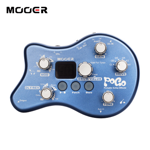 MOOER POGO Portable Guitar Multi-effects Processor effect pedal 40 Drum Rhythms Guitar effect pedal nux mg 20 electric guitar multi effects pedal guitarra modeling processor with drum machine eu plug
