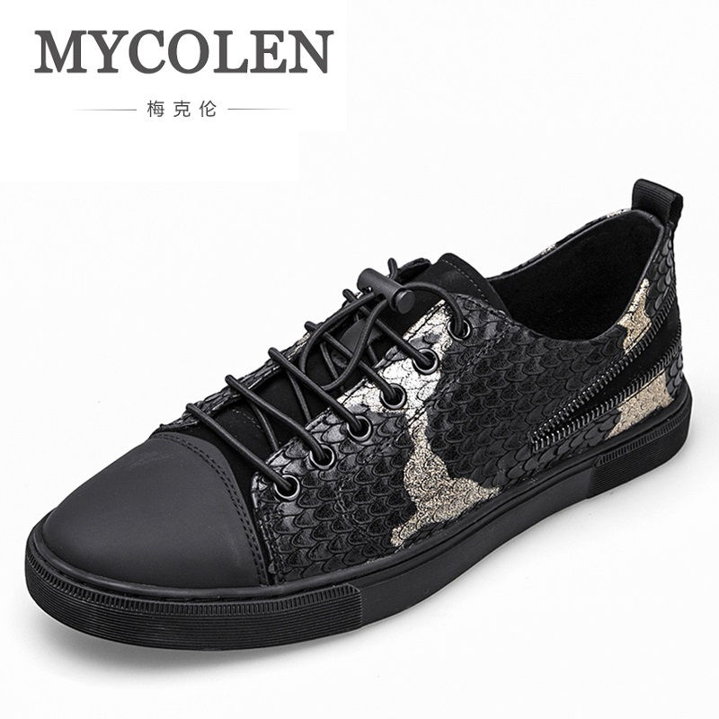 MYCOLEN Top Fashion Loafers Shoes Men Spring Autumn Light Up Casual Brand Flats Breathable Leather Mens Shoes Chaussure-Homme mycolen brand new fashion autumn spring men driving shoes loafers leather boat shoes breathable male casual flats loafers
