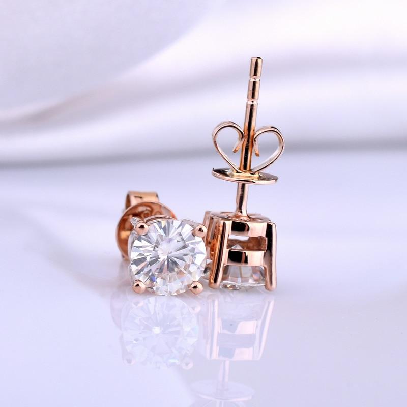 18K oro un par de pendientes 1CT D Color Moissanite pendientes para mujer M 0.2-in Aretes from Joyería y accesorios    3