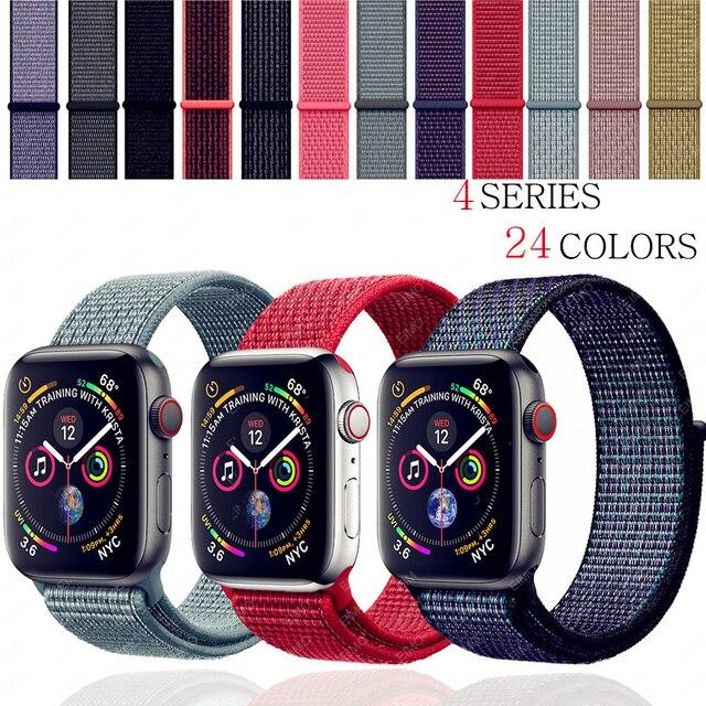 Ремешок для часов EIMO для apple watch band iwatch band 42 мм 44 мм 38 мм 40 мм Спортивная петля correa apple watch 4 3 нейлоновая петля браслет