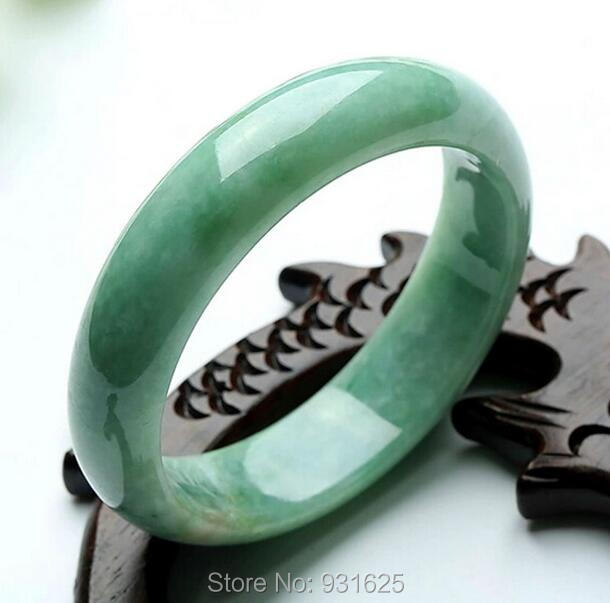 Natural Grade A Jadeite Ice Flower Handmade Woman's Bangle Green Jade Bracelet Girl's Gift Bangles + certificate 57-62mm