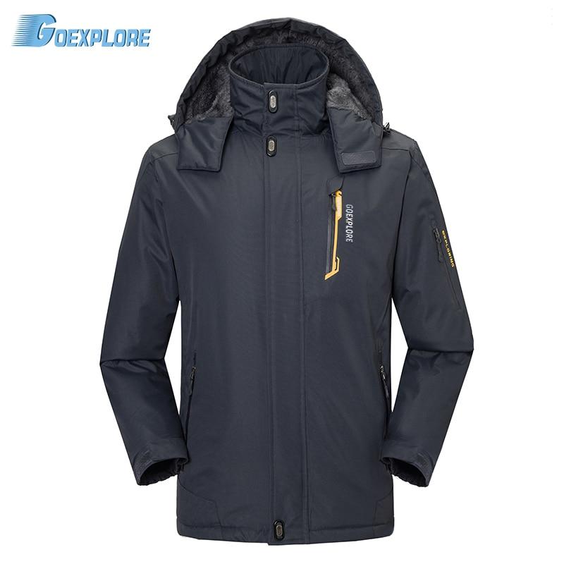 Goexplore Outdoor Jackets Male Coats Waterproof Windproof windbreaker Jackets Winter thicken Hiking camping jacket for men цена 2017