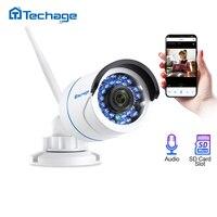 Techage 1080 720P WIFI IP カメラ屋内屋外防水ネットワーク 2MP オーディオサウンドワイヤレスカメラ SD カードスロットカムスペイン EU 在庫