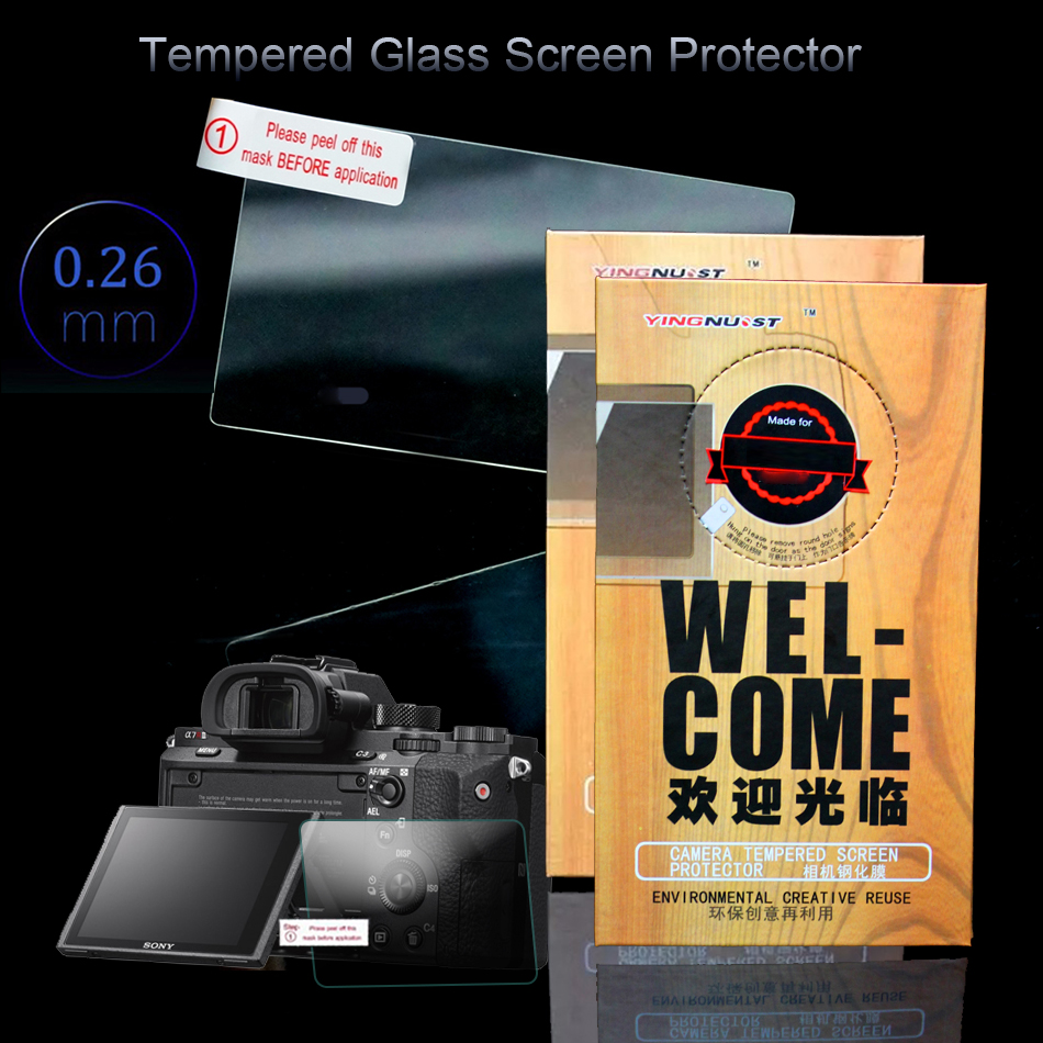Premium LCD Tempered Glass Screen Protector for Sony A7 Mark II A7RII A7S2 A7R2 ILCE-7RM2 3 INCH Camera LCD Protector A7M2 A7II 2pcs screen protector for sony l1 high clear premium tempered glass