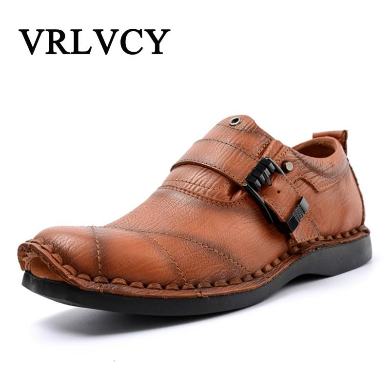 Luxury Brand Genuine Leather Fashion Men Shoes Handmade Summer Autumn Winter Brand High Quality Men Flats Shoes