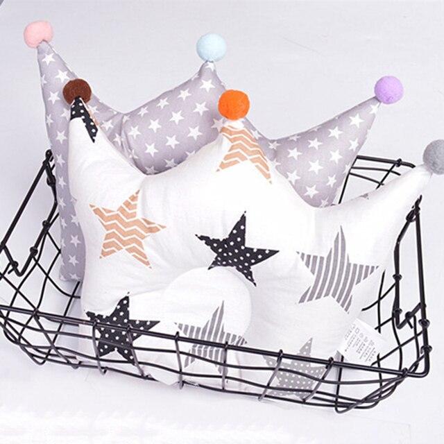 Ideacherry детская форменная Подушка предотвращает плоскую голову младенцы Корона точка постельные принадлежности подушки новорожденных мальчиков и девочек украшения аксессуары 0-24