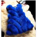2016 New Winter Fox Fur Imitation Fur Coat Skirt Female A Word Vest Cloak.