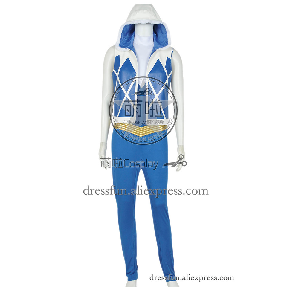 The Flash DC Anime Cosplay Captain Cold Leonard Snart Costume Uniform Outfits Jumpsuit Halloween Fashion Party Fast Shipping