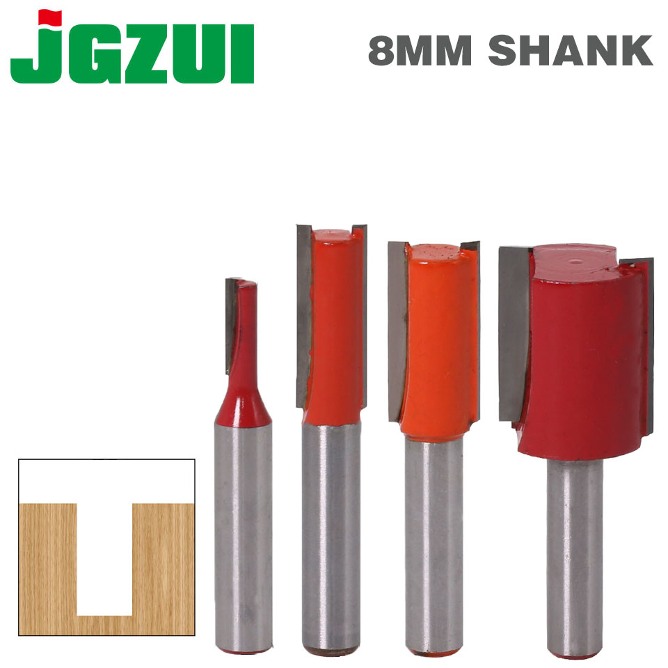1pcs 8mm Shank 2 Flute Straight Bit Woodworking Tools Router Bit For Wood Tungsten Carbide Endmill Milling Cutter