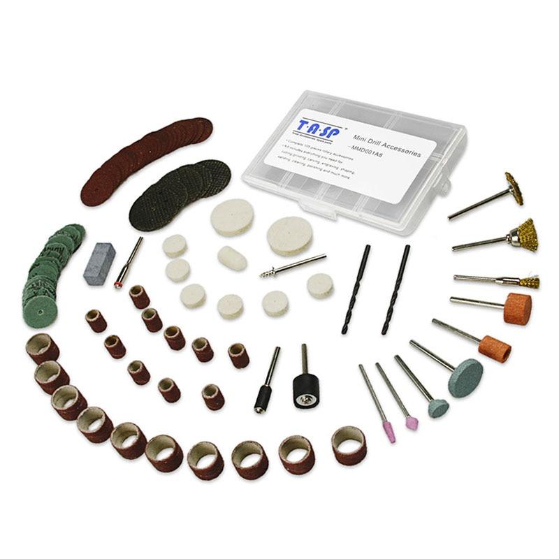 """105 vnt sukamųjų įrankių priedai 3.2 mm """"Shank Diyer"""" šlifavimo šlifavimo poliravimo pjaustymo graviravimo antgalių rinkinys """"Dremel"""" mini grąžtui"""
