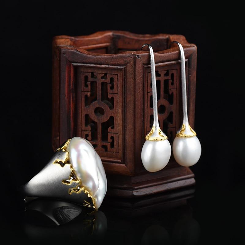 A new style of Italian handmade baroque abnormity pearl lady ringA new style of Italian handmade baroque abnormity pearl lady ring