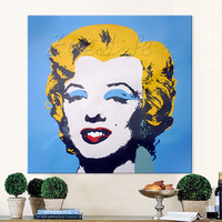 Lichtenstein Pop Art Cartoon Oil painting on canvas Hand painted Wall Art Picture for living Room Andy Warhol home decor 6