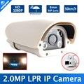Placa de Captura De Reconhecimento LPR Câmera 2.0MP IP Para a Estrada/Toll-Gate 1080 P, IR-Cut, 4 PCS Matriz de Led, 8mm Lente Fixa