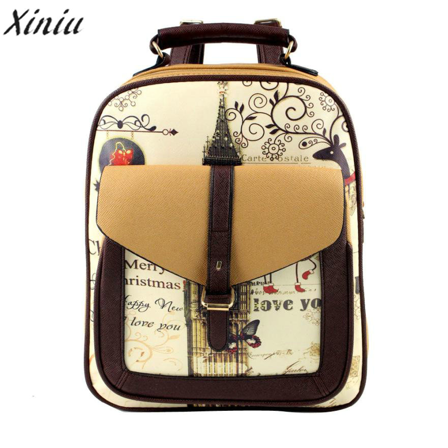 c6dd857f947a Best buy 2016 New Women Fashion Simple Satchel Backpack Quality canvas Rucksack  School Bags for Girls Schoolbag Student Book Bag online cheap