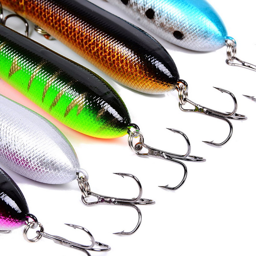 5pcs/set Isca popper 8.5cm 12g fishing hard bait lures japan fishing tackle eyes 3d artificial lures pescar
