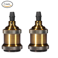 2 3 Tomshine Bronze Lamp Socket Aluminum Shell E26 E27 Retro Bulb Base Light Vintage Pendant Holder without Switch