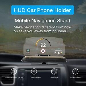 Image 2 - ユニバーサル電話の車のミラーホルダーウインドスクリーンプロジェクター HUD ヘッドアップディスプレイ GPS ナビゲーション HUD 折りたたみ Iphone サムスン