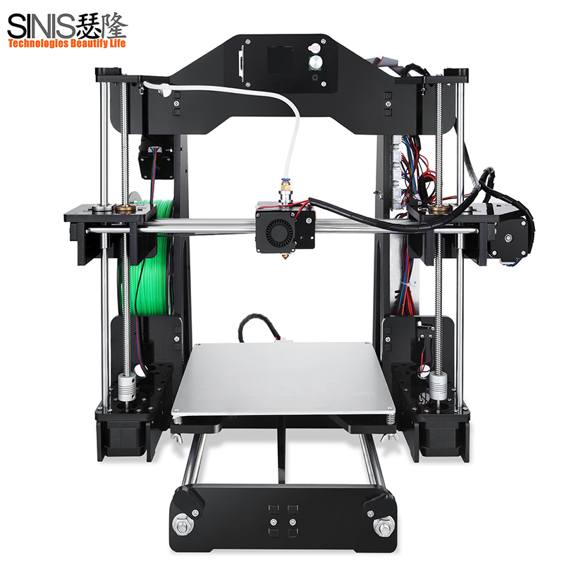 Sinis Tech 3d Printer Kit Normal and Laser engraver version DIY Desktop Printing Machine With Free 1KG Filament and SD Card high quality wanhao jewelry 3d printer with 2gb sd card an 1kg filament for free
