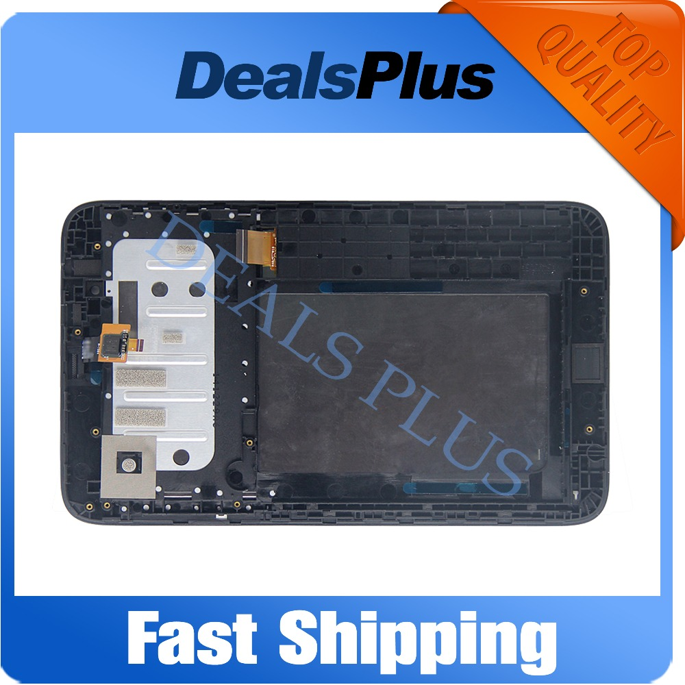 Replacement New LCD Display Touch Screen with Frame Assembly For Lenovo A3300 A3300T 7-inch Black Free Shipping